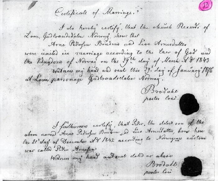 Norway Heritage Community - Looking for grandfathers birth place
